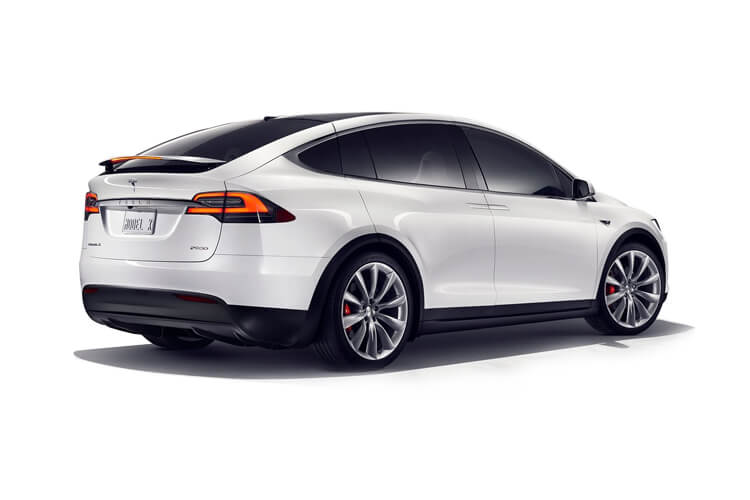 Tesla Model X SUV 5Dr Dual Motor Elec 450KW 603PS Performance Ludicrous 5Dr Auto back view