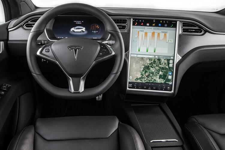 Tesla Model X SUV 5Dr Dual Motor Elec 450KW 603PS Performance Ludicrous 5Dr Auto inside view